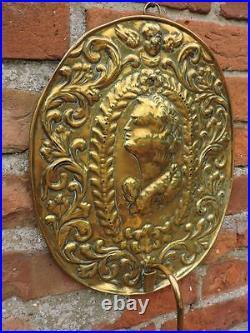 18th Century Antique Brass Wall Reflector Candlestick Period Lighting