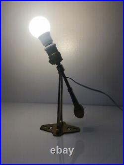 1930s Art Deco Brass Wall or Table Lamp Ceiling Light Vintage Floating