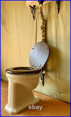 1930s vintage art deco toilet wall mounted