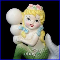 1950's Vintage TILSO MERMAID Wall Plaque on Starfish Hanging