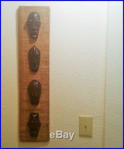 `1950s TIKI BAR wall plaque vtg hawaiian ceramic statue mask restaurant mcm art