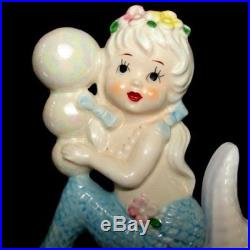 1950s Vintage TILSO MERMAID Wall Plaque on Starfish Hanging