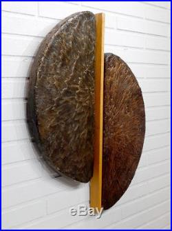 1960s 1970s Vintage MID-CENTURY MODERN Abstract BRUTALIST Sculpture WALL PLAQUE