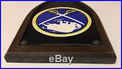 1970's BUFFALO SABRES Metal Crest Wall Plaque Vintage Hockey Rare NHL Shield Old