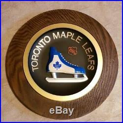 1970's Vintage Rare Toronto Maple Leafs NHL Hockey Skate 14 Round Wall Plaque