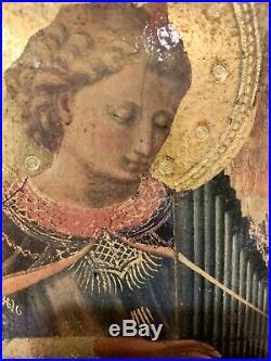 2 VINTAGE ITALIAN FLORENTINE Italy Religious Icon Wall Plaques