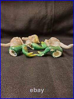 3 VINTAGE BRADLEY CERAMIC MERMAIDs WALL Plaque ceramic