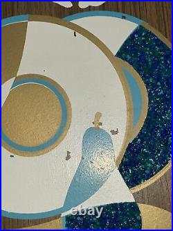 3 Vintage Mid Century Illinois Moulding Gravel Popcorn Tear Drop Wall Art Plaque