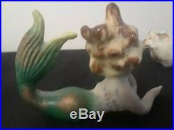 3VINTAGE BRADLEY CERAMIC MERMAIDs WALL PlAQUE ceramic