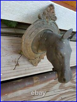 40 Antique Vintage Brass Horse Head Wall Mount Holder Hooks Hanger Rack