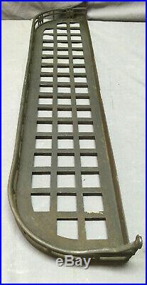 Antique 27 Brass Railroad Wall Shelf Bathroom Brush Sponge Holder Vtg 227-19L