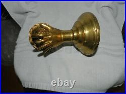 Antique Art Nouveau deco Hollywood regency Brass Light Wall Lamp Sconce Vintage