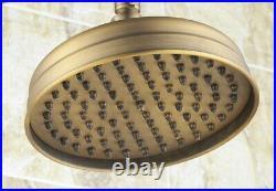 Antique Brass 8 Rainfall Bathroom Rain Shower Set with Wall Bath Tub Tap 2rs046