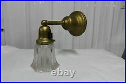 Antique Brass Wall Sconce Light Fixture With Glass Shade