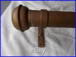 Antique Copper Brass Coat Rack Wall Mount Vtg Hat Mounted Metal