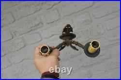 Antique French brass empire swan wall sconces lights
