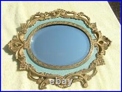 Antique Nat'l Brass & Iron Works Victorian Easel-back or Wall Mount Mirror