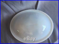 Antique Nickel Brass Wall Mount Cup Holder Milk Glass Soap Dish Vtg Old 143-17J
