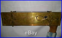 Antique Old Vintage Art Deco Brass & Glass Rod Ship Light Wall Sconces Lamp