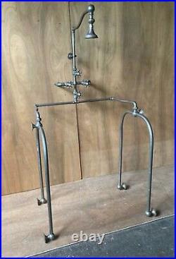 Antique Standard Nickel Brass Needle Shower Wall Unit Old Vtg Fixture 208-21E