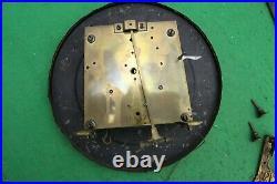 Antique Twin Weight Vienna Wall Clock Movement, Dial, Hands, Pendulum, Key