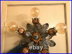 Antique Vintage Italian Hanging Ceiling Wall Hanging Lamp tulip light heads