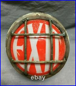 Antique Vintage Small 7 Brass Wall Mount Exit Light Sign Nautical Old 1142-21B