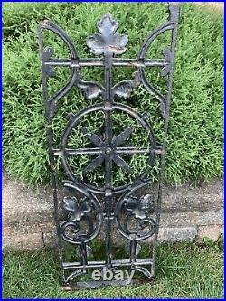 Antique Vintage Wrought Cast Iron Garden Yard Art Wall Plaque