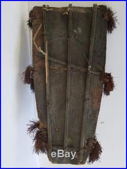 Antique Vtg Wall Plaque African Primitive Wooden Art Wood Hand Carved 22x12x5.5