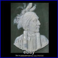 Antique Wedgwood / Jasperware Wall plaque Native American Indian