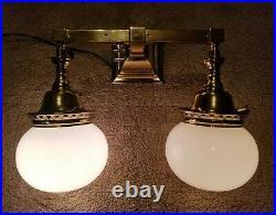 Antique Welsbach Reflex Electrified Gas Wall Mount Sconce Fixture Light Vintage
