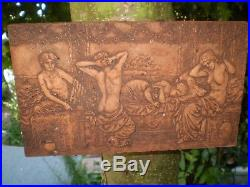 Architectural Salvage, Vintage French Terracotta 4 Grecian Maidens Wall Plaque