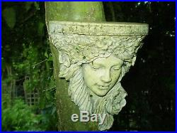 Architectural salvage Garden, Vintage French Art Deco Lady Wall Plaque