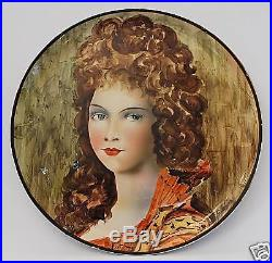 Artist Signed Vintage Handpainted Large Wall Plaque