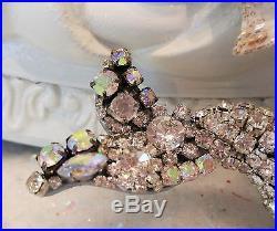 Beautiful Vintage NORCREST Mermaid Wall PLAQUE Rhinestones jewelry earrings OMG