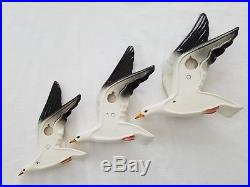 Beswick Set Of 3 Original Vintage Flying Seagull Wall Plaques 922-1 922-2 922-3