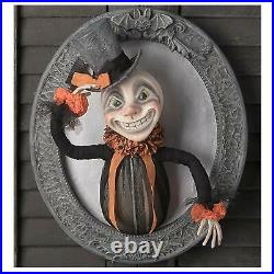 Bethany Lowe 13 Leering Lawrence Retro Vntg Halloween Wall Hanging Decor Plaque