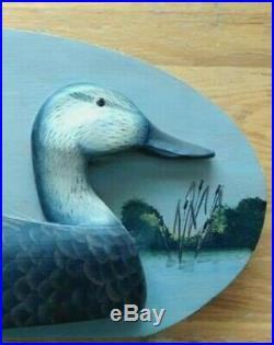 Black Duck Half Decoy Wall Plaque signed