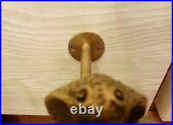 Brass Tissue Paper Holder Snake Figurine Toilet Wall Mount Hanging Vintage Decor