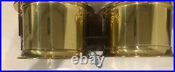 CHELSEA VINTAGE Brass SHIPS BELL CLOCK & BAROMETER SHIPSTRIKE MODEL