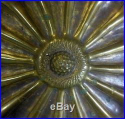 Casagrande Brass Wall Hanging Plaque Italy Renaissance Vtg Metal Art Ben Hur