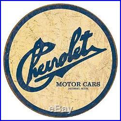 Chevy Tin Sign Vintage Metal Chevrolet Plaque Classic Car Wall Art Garage Decor
