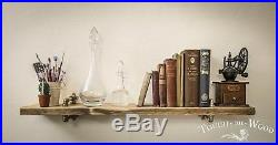 Copper Pipe & Brass Single Wall Shelf STEAMPUNK Reclaimed Wood INDUSTRIALDisplay