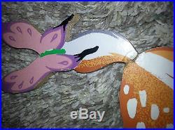 DISNEY Vintage BAMBI THUMPER FLOWER OWL Hanging WALL PLAQUE Nursery Kids DECOR