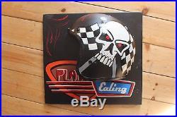 Design Your Own Motorcycle Helmet Vintage Wall Sign Plaque Man Cave Hotrod