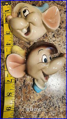 Disney Porcelain Gus and Jaq Wall Plaques Vintage Cinderella's EXTREMELY RARE