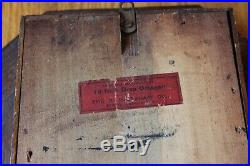 E Ingraham Antique Drop Octagon Wall Clock Wood Vintage Brass Pendulum Regulator