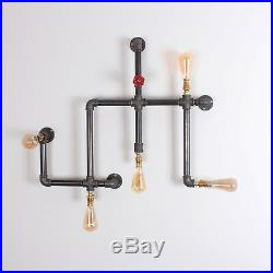 EISLER 5 Way Wall Light Lamp Industrial Pipe Style Vintage Retro CE MARKED