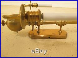 F30492EC/93EC Set Of 4 Vintage Colonial Style Electrified Brass Wall Sconces