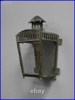 Georgian Copper Wall Lantern c1830 Light Lamp Railway Industrial Vintage Brass